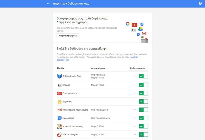 Εργαλεία δεδομένων Google
