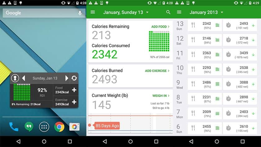 Εφαρμογή για την απώλεια βάρους- Calorie Counter by FatSecret