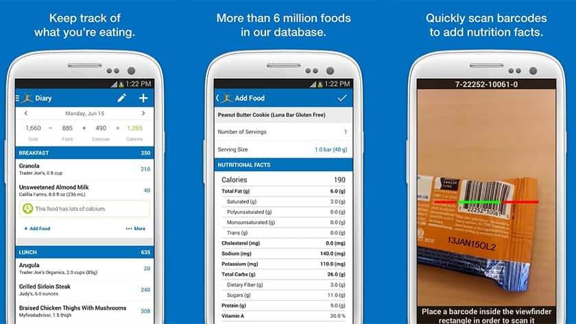 Εφαρμογή για την απώλεια βάρους- Calorie Counter by MyFitnessPal