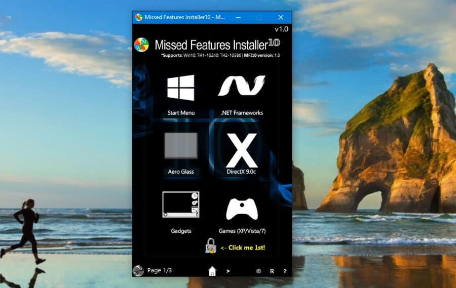 Windows 10 - Missed Features Installer 10