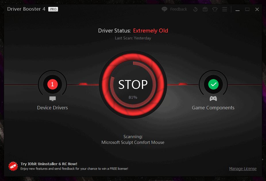 IObit Driver Booster – Βρες τους drivers μετά από format