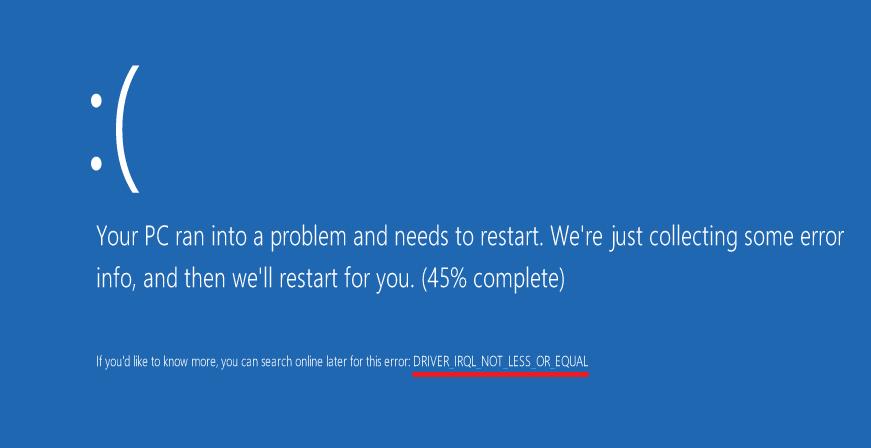 Αυτόματη επανεκκίνηση του υπολογιστή - Μπλε οθόνη