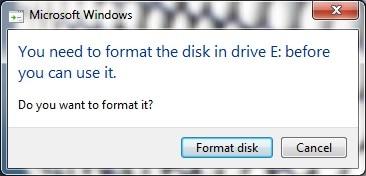 Format χαλασμένου σκληρού δίσκου