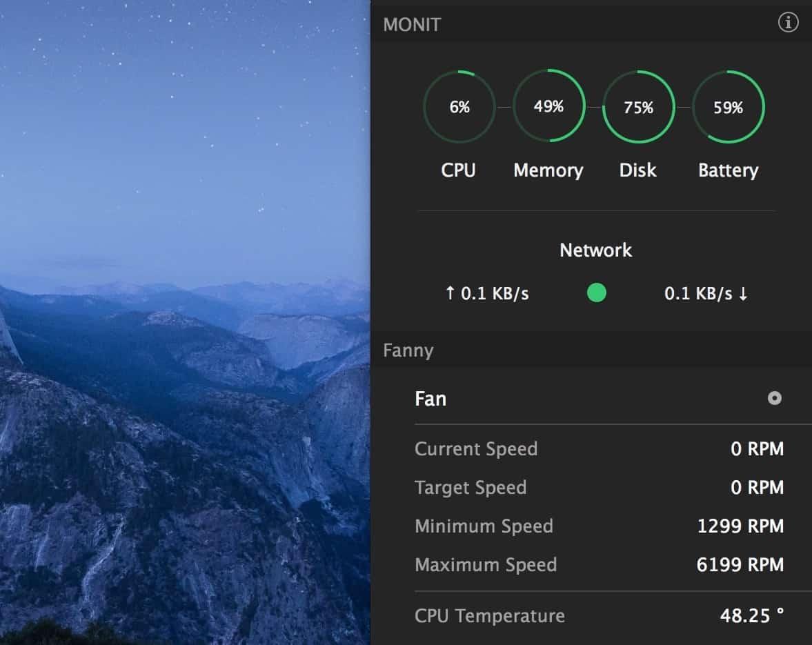 Παρακολούθηση θερμοκρασίας σε macOS