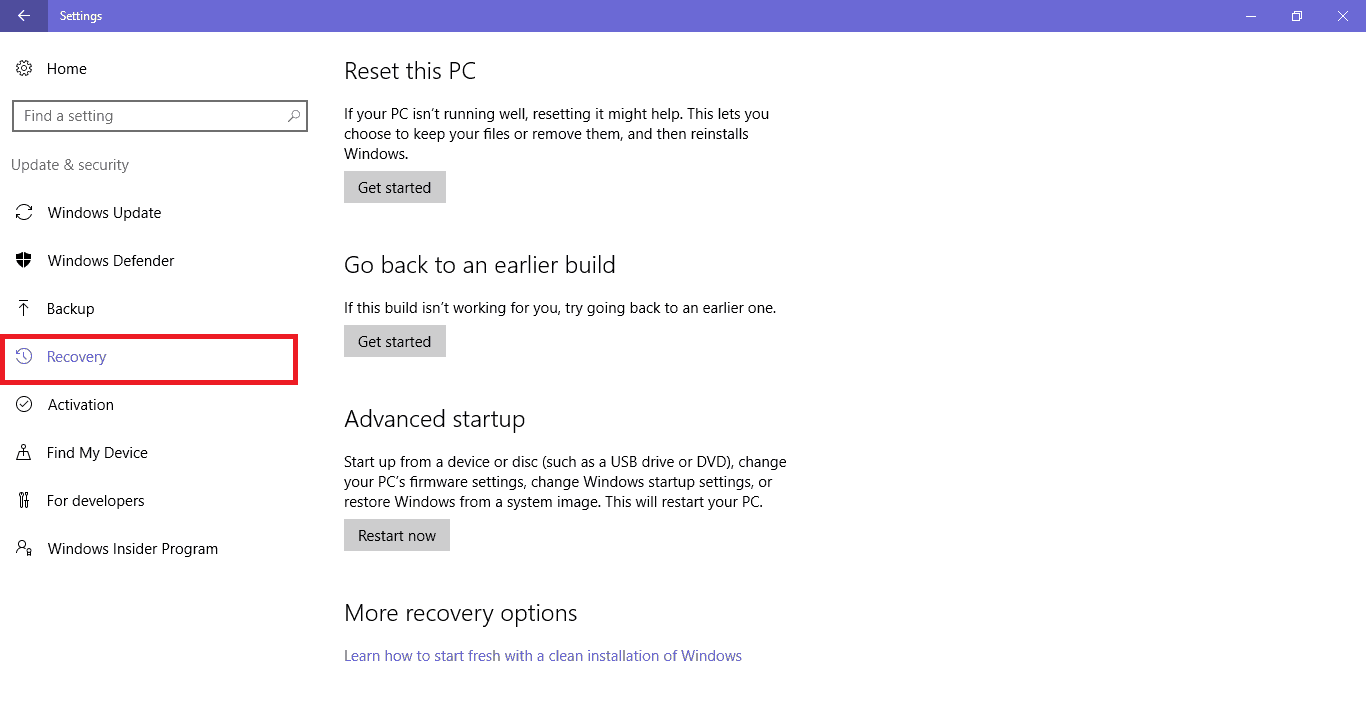Επαναφορά συστήματος στα Windows με λίγα κλικ