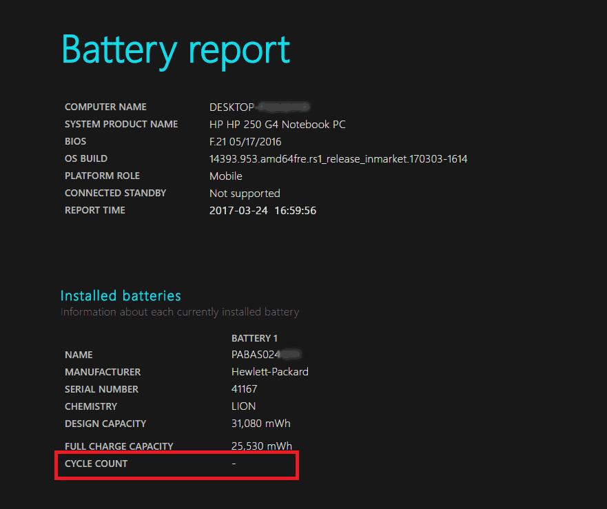 Έλεγχος μπαταρίας του laptop στα Windows