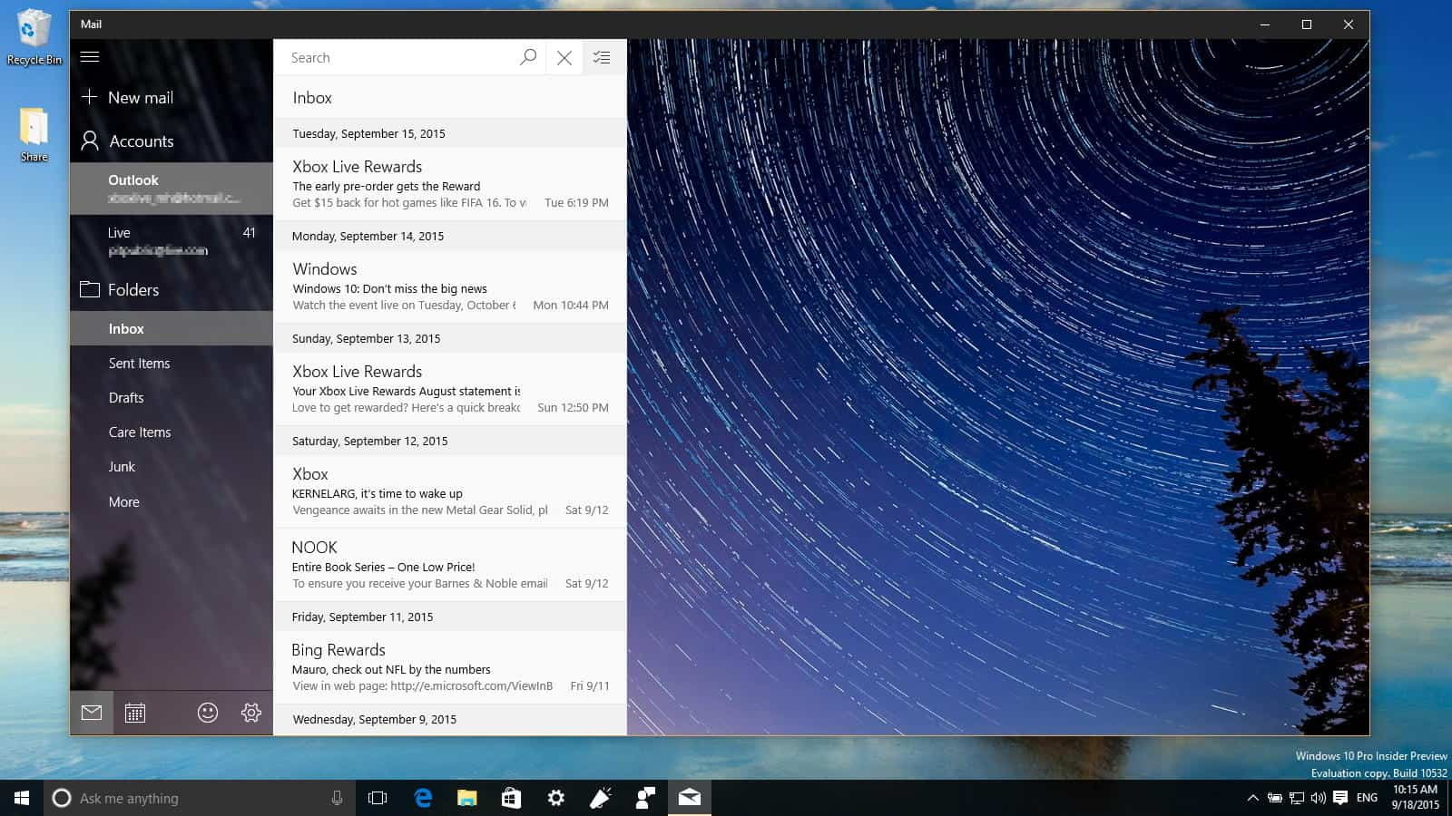 Windows Mail App
