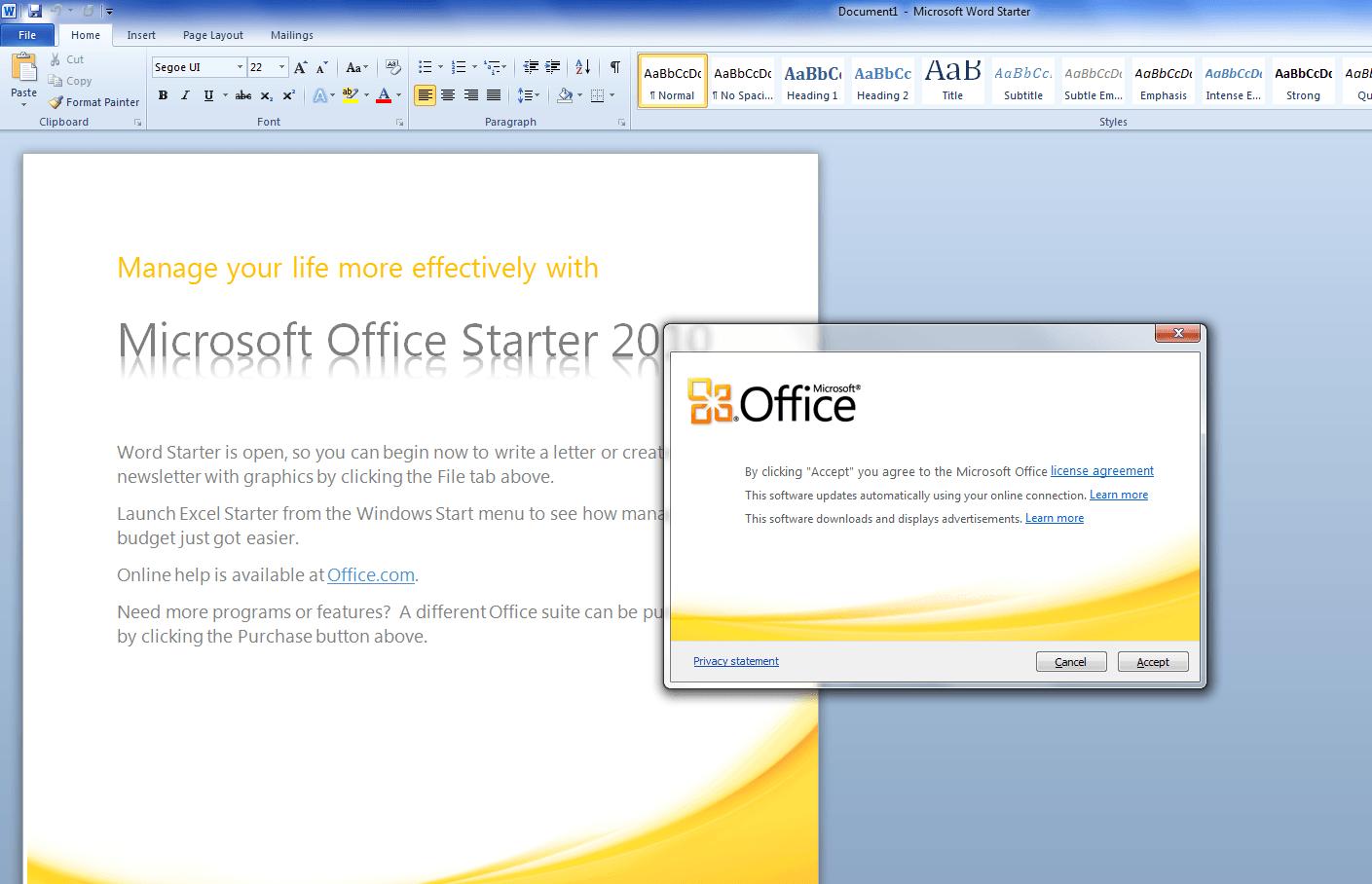 Microsoft Office Starter 2010 - Κατέβασε τα νόμιμα και δωρεάν
