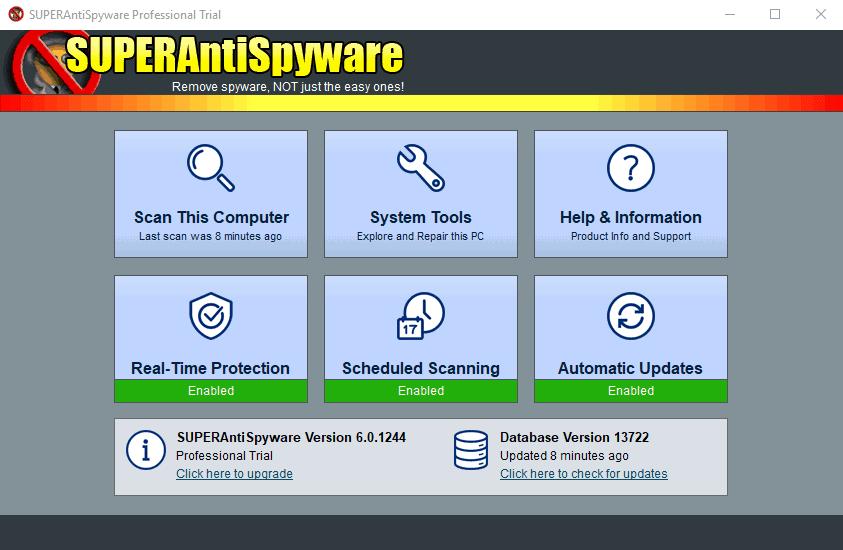 SuperAntiSpyware - Δωρεάν πρόγραμμα αφαίρεσης spyware
