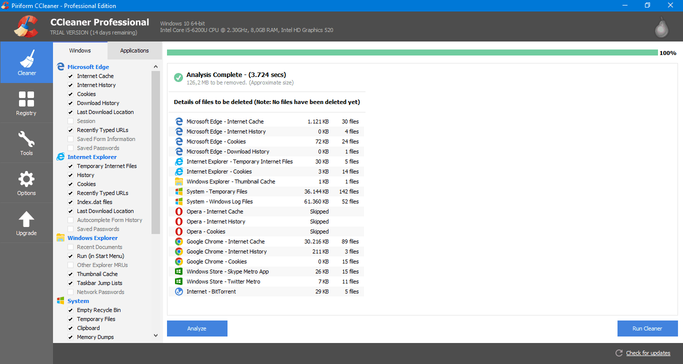 Καθαρισμός σκληρού δίσκου στα Windows 10 με το CCleaner