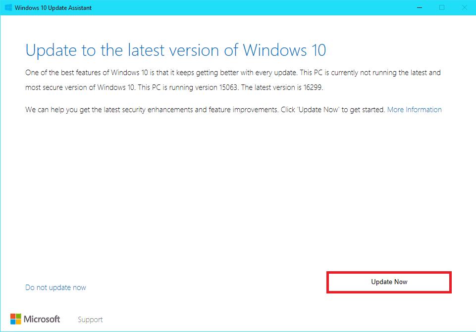 Windows 10 Creators Update Tool