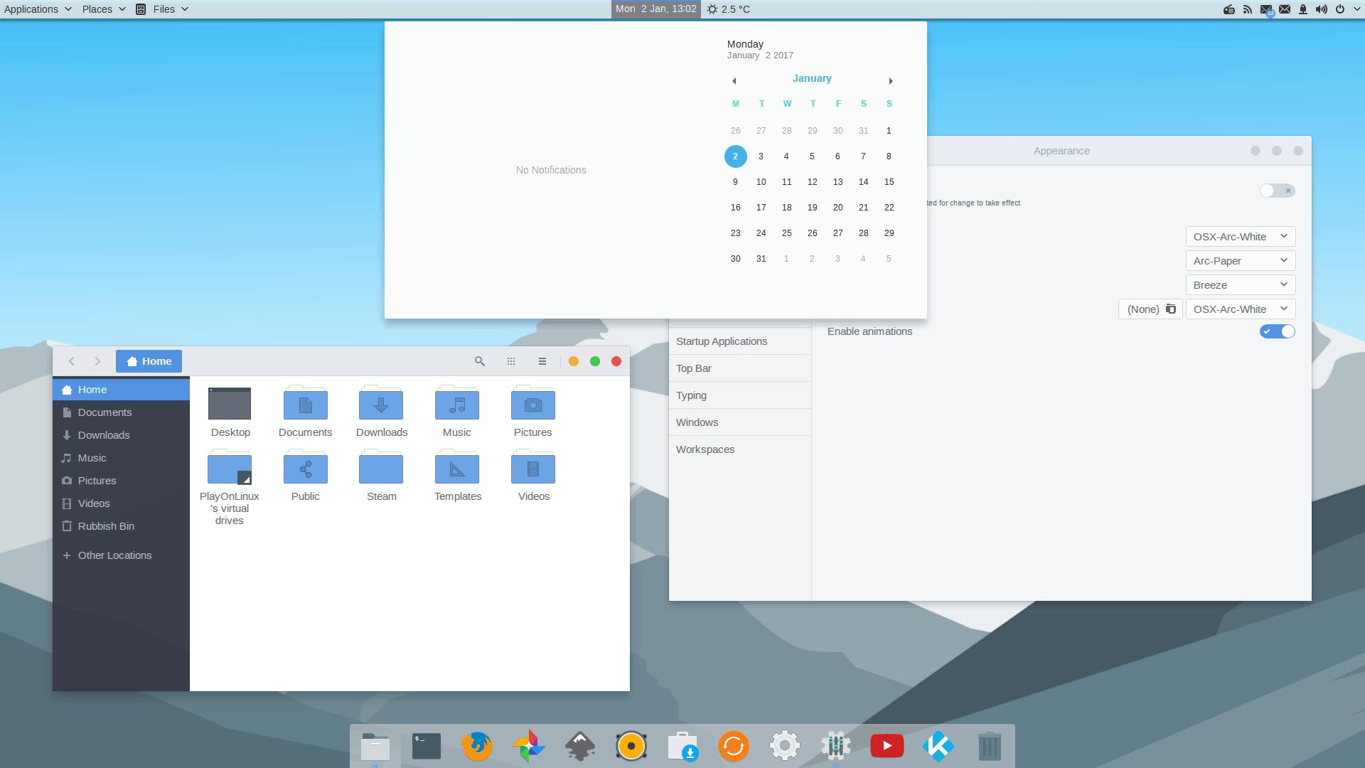 Arc Ubuntu Theme