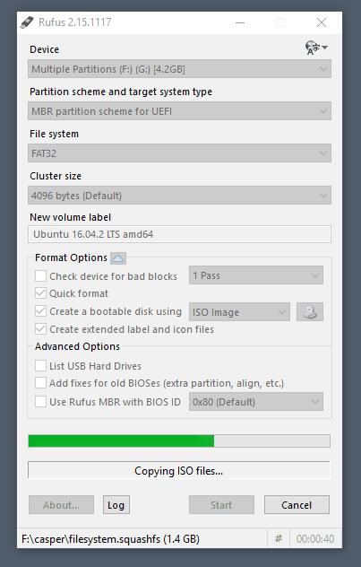 Προετοιμασία δημιουργίας bootable USB στο Rufus