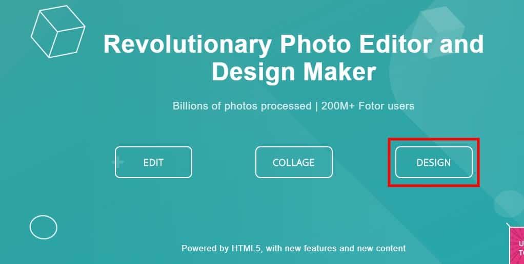 Δημιουργία αφίσας μέσω του Fotor