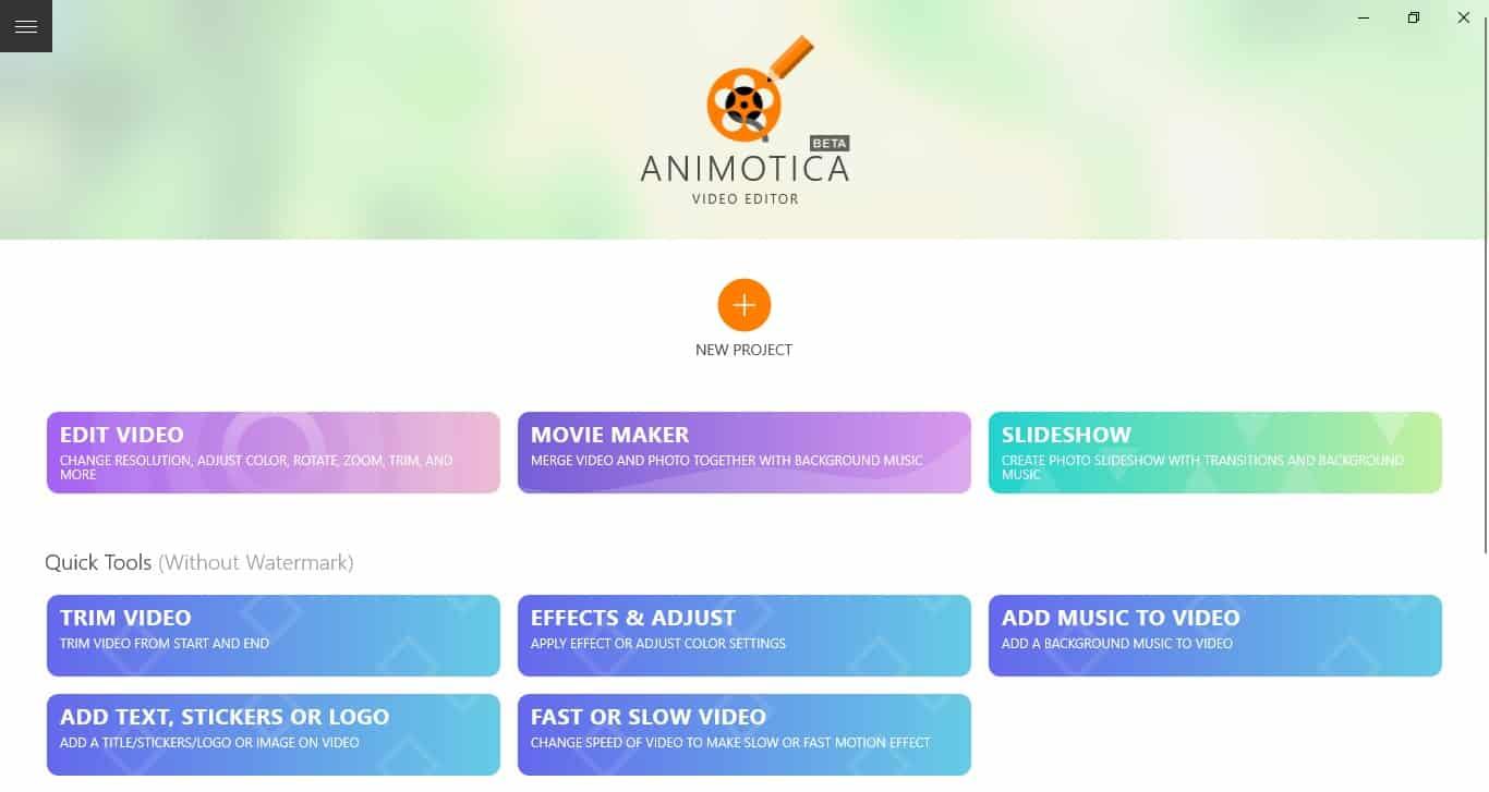 Animotica - Windows 10
