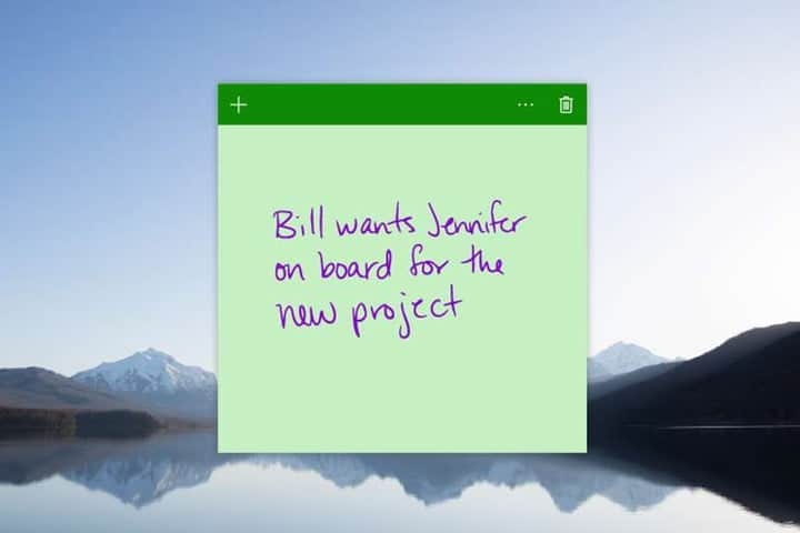 Microsoft Sticky Notes - Windows 10