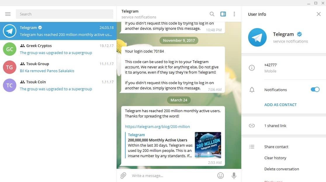 Telegram - Windows 10