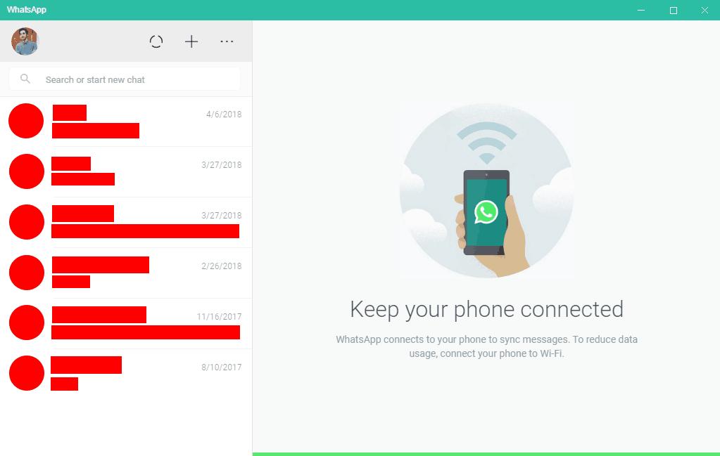 WhatsApp Windows 10