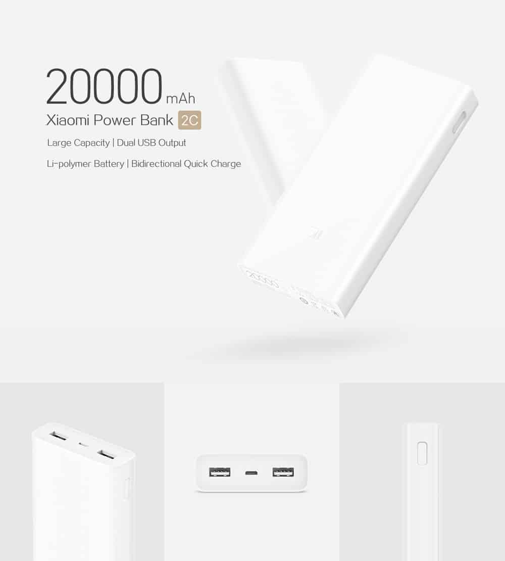Original Xiaomi Power Bank 2C - WHITE