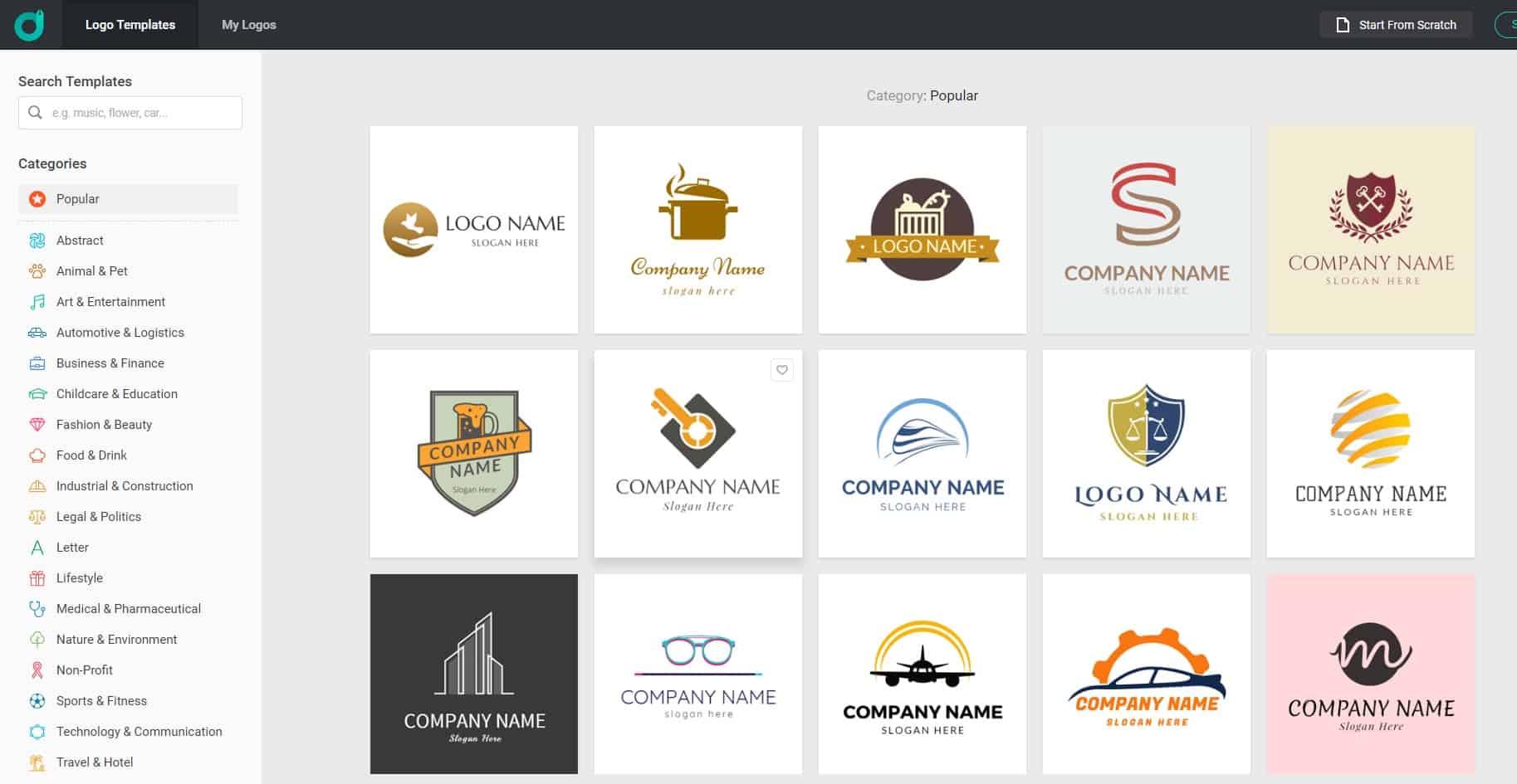 Πώς να δημιουργήσετε ένα λογότυπο με το DesignEvo