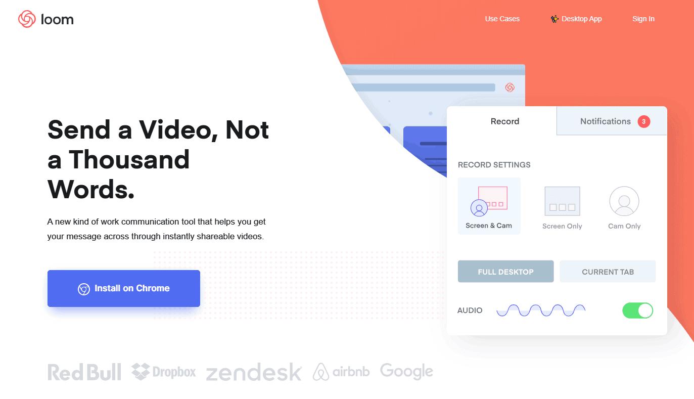 Καταγραφή οθόνης του browser με το Loom extension