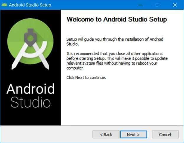 Εγκατέστησε το Android Studio