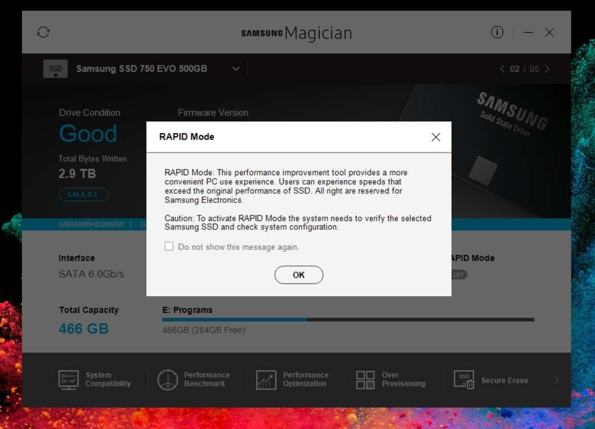 Τι είναι το Rapid Mode στους Samsung SSD δίσκους 2