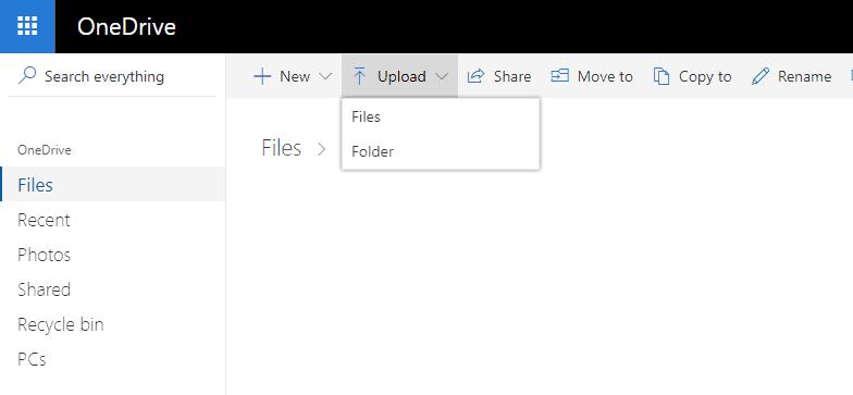 Δεύτερος τρόπος: Κάνε backup τα Windows 10 στο OneDrive χειροκίνητα