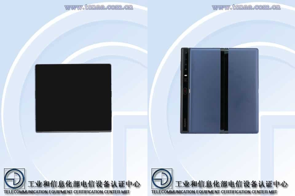 Να που ξανα-εμφανίζεται το Huawei Mate X με τετραπλή κάμερα σε ρυθμιστική αρχή της ΤΕΝΑΑ