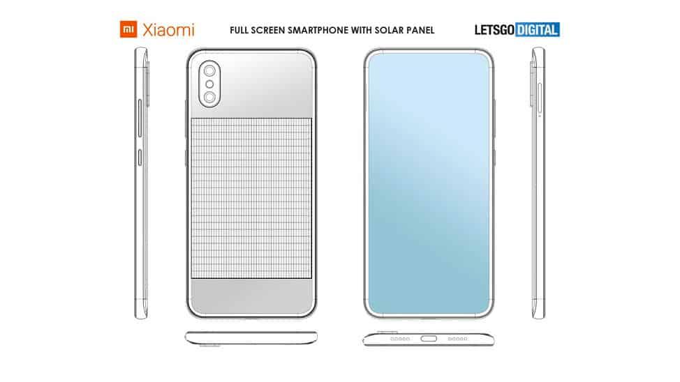 Xiaomi Smartphone πλήρους οθόνης με ενσωματωμένο ηλιακό πίνακα