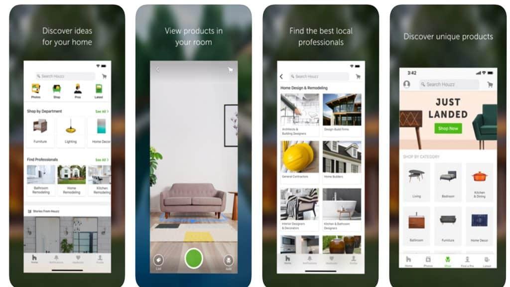 Houzz - Τα 10 καλύτερα Augmented Reality apps για Android και iOS