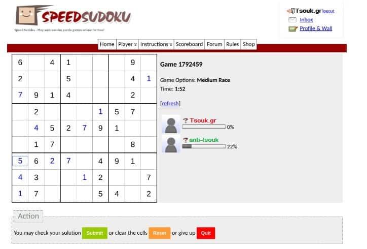 Speed Sudoku δωρεάν παιχνίδι με φίλους