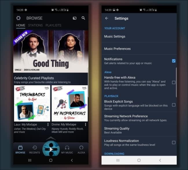 Υπηρεσίες αναπαραγωγής μουσικής straming music Amazon Prime
