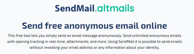 Αποστολή ανώνυμων emails