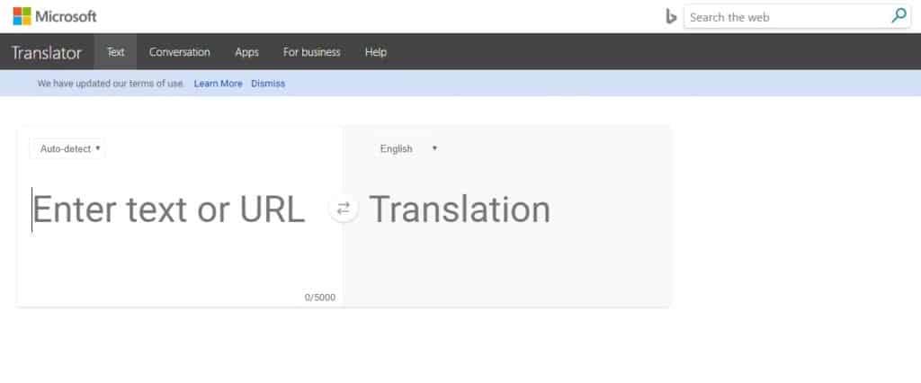 bing translator μετάφραση από ελληνικά
