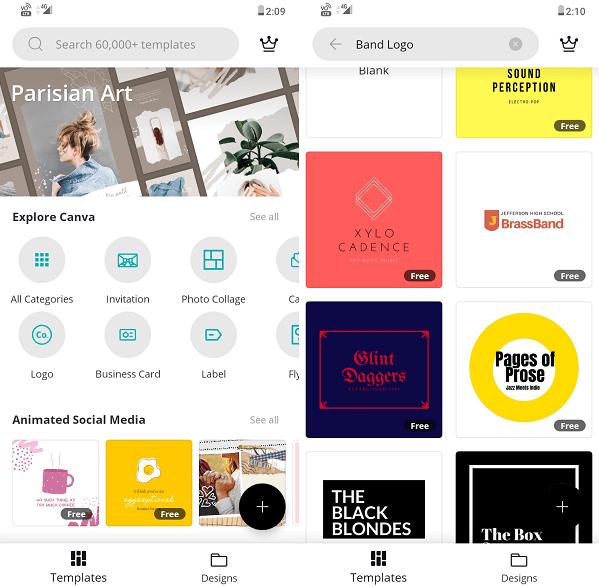 Canva logo maker free app