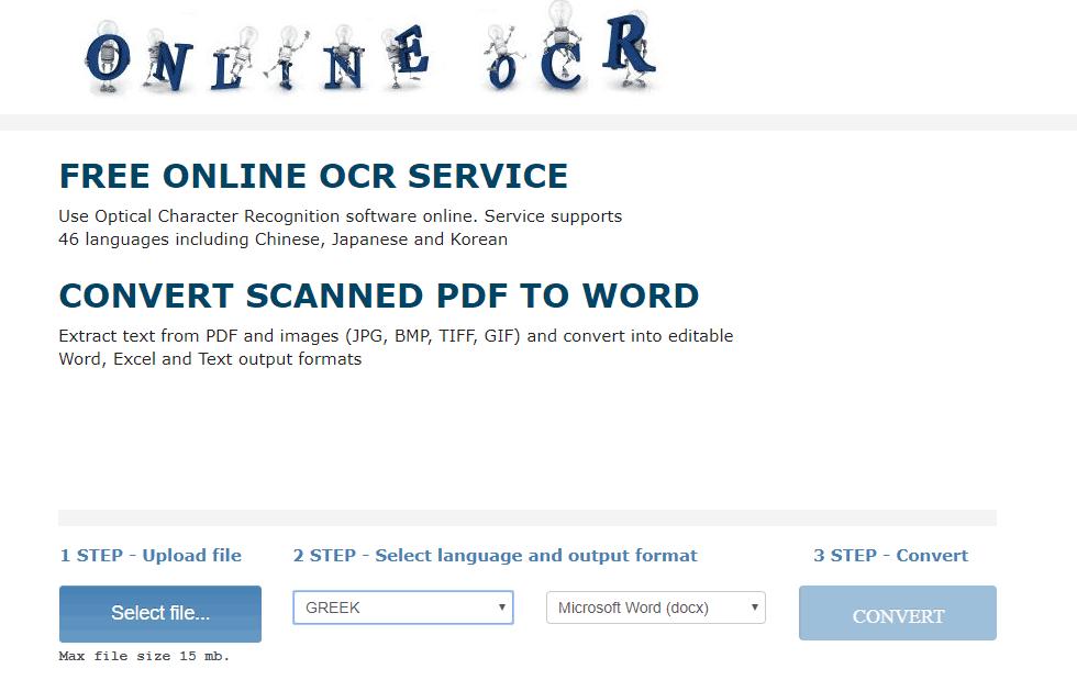 online-ocr jpg to word