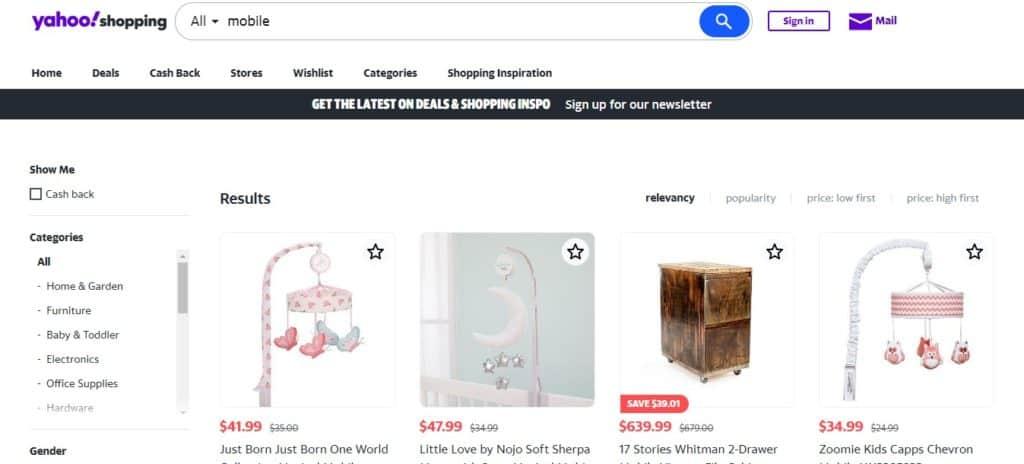 yahoo shopping οι καλύτερες ιστοσελίδες σύγκρισης τιμών
