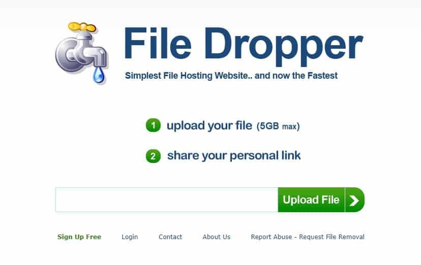 Filedropper Υπηρεσίες για ανέβασμα μεγάλων αρχείων στο internet